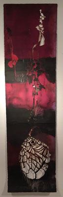 die Eichel | 280 x 57 cm | Tuschen und Scherenschnitt auf handgeschöpftem Papier