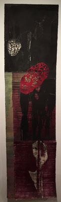 die Baum Polle | 280 x 57cm | Tuschen und Scherenschnitt auf handgeschöpftem Papier