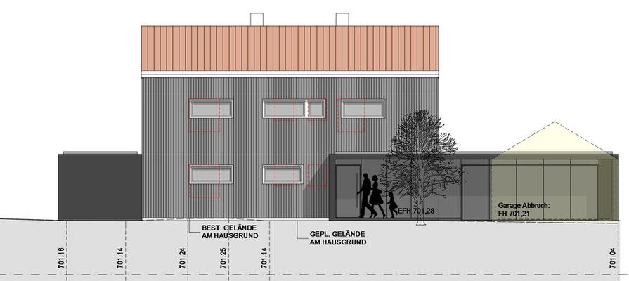 Eingabe- und Werkplan, Wohnhaus.