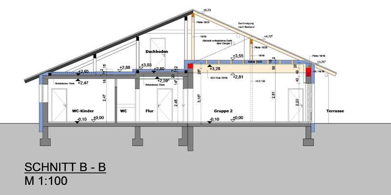 Bestands- und Eingabeplan, Sanierung Kindergarten.