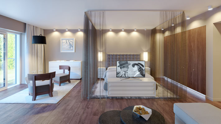 Visualisierung Zimmer 6 Bett