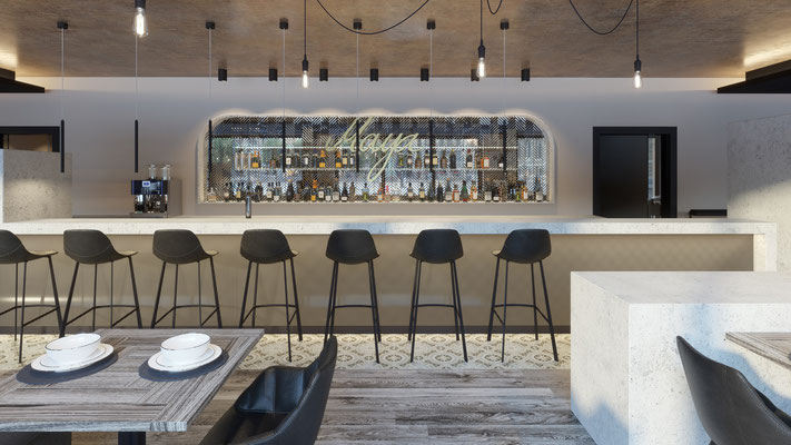 Interior Rendering Bar Theke