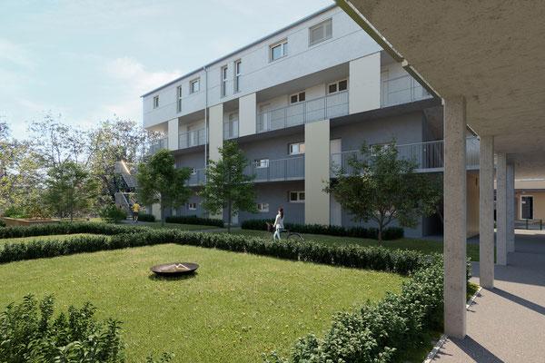 Rendering Innenhof Bauteil 1