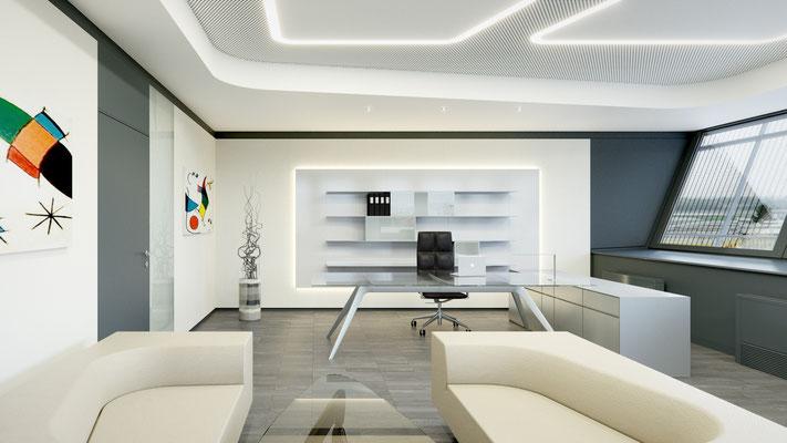 Rendering Vorstandsbüro 1