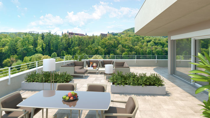Visualisierung Terrasse Penthouse