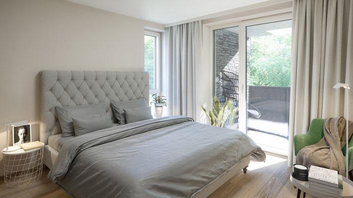 Schlafzimmer eines Einfamilienhauses