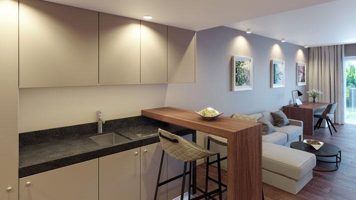 Visualisierung Zimmer 6 Küche