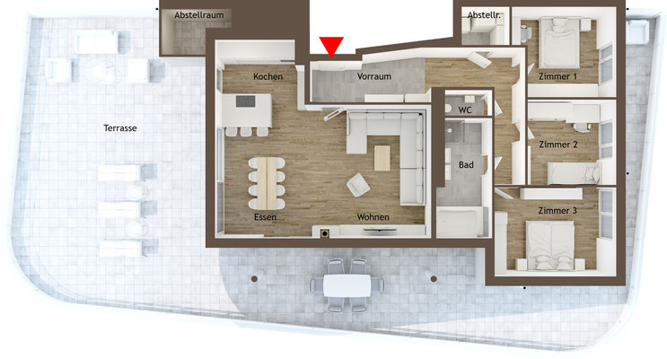 Grundrissgrafik Penthouse
