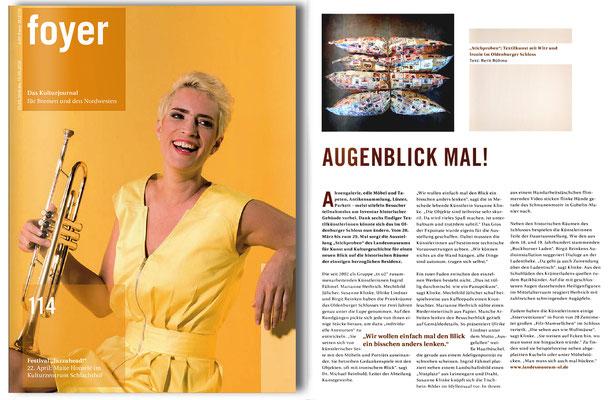 Berit Böhme in: Foyer. Kulturjournal. Heft 114.