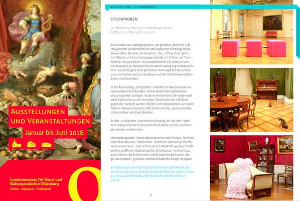 Programmheft des Landesmuseum Oldenburg.