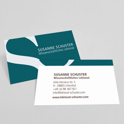 Susanne Schuster, Wissenschaftslektorat, Visitenkarten