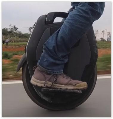 monoroue sur route