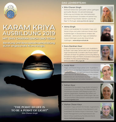 Karam Kriya Consultancy Training in Deutschland 2019-2021