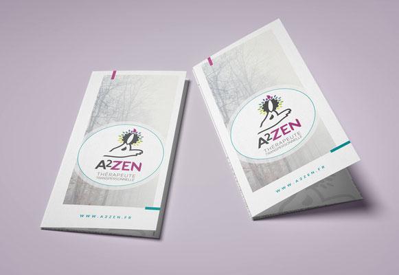 A2ZEN • Dépliant 3 volets - Saint-Nazaire