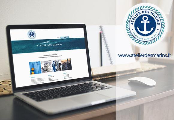 ATELIER DES MARINS • Logo / Site internet - Le Pouliguen