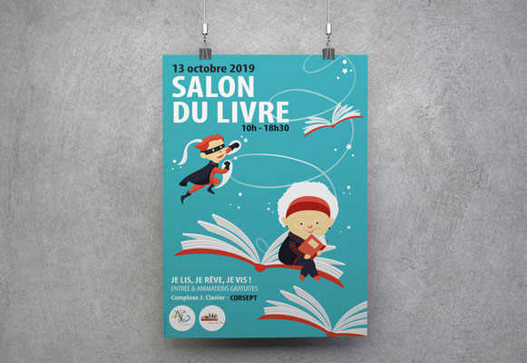 SALON DU LIVRE •Affiche • Ville de Corsept