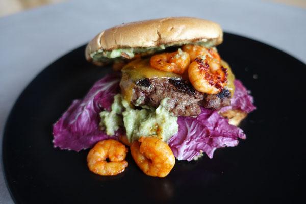 Surf n Turf Burger  Mädchenvöllerei Food Foodblod Saarland Rezept Kochen