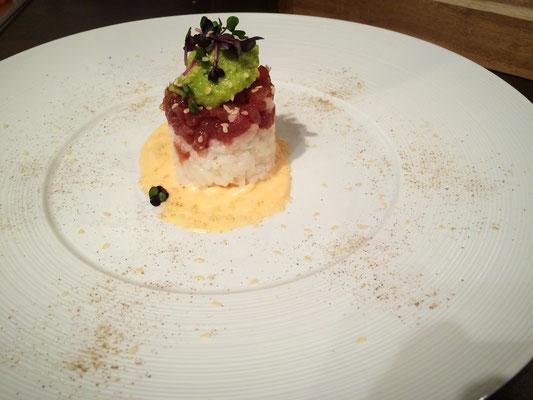 Sushi - Reis Thunfischtatar - Türmchen - Pi mal Butter Mädchenvöllerei