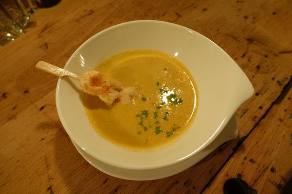 Mädchenvöllerei Pi mal Butter Food Blog Saarland Kochen Rezepte Cooking Cook Schaumsuppe von rotem Curry Zitronengras Garnelenspieß