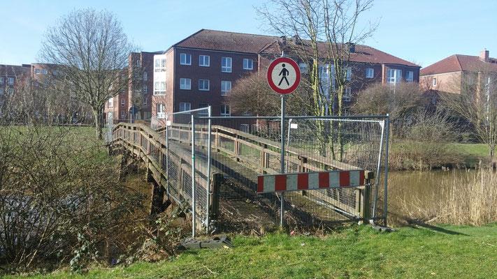 Zustand der Brücke an der Maria-Terwiel-Kehre am 22. März 2017