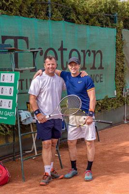 Christoph Fichtner und Heinz Kellermair im Spiel um Platz 3
