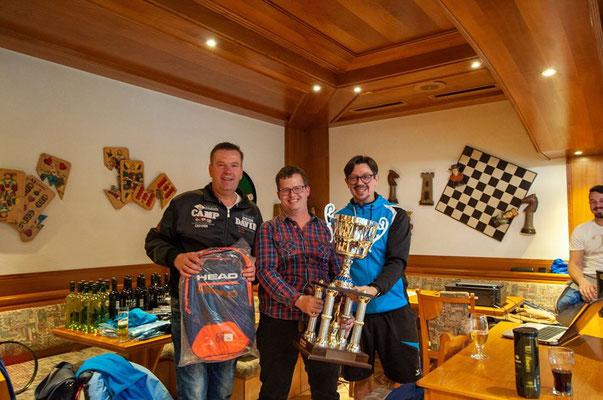 Die Sieger des Dreikönigs-Doppelturniers Hannes und Kurt