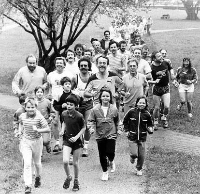 Lauftreff mit Walter Schwebel 80ziger Jahre