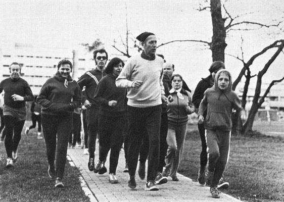 Lauftreff mit Heinrich Peters 70ziger Jahre