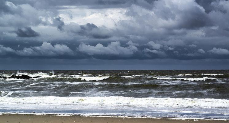 Woelige Noordzee.