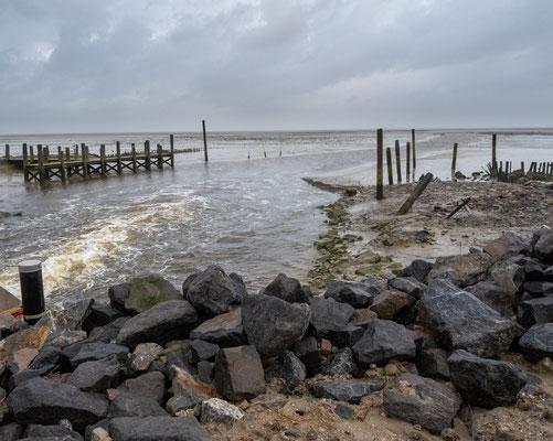 Het haventje van Sil Boon ten noordoosten van De Cocksdorp.