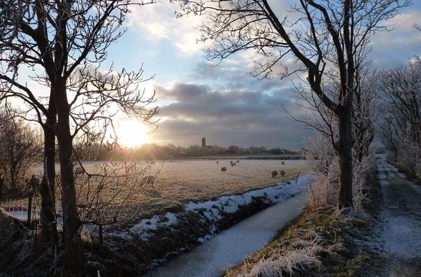 Winterlandschap bij De Waal.