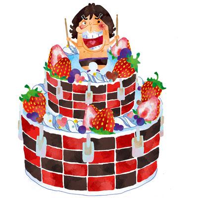 MAD/マッドさんお誕生日イラストケーキバージョン(こちらご友人さんに依頼されたもの)