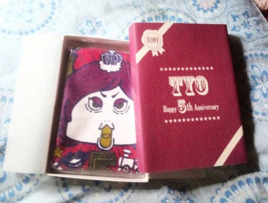 TYO/5周年記念タオルとパッケージTONYバージョン/2014