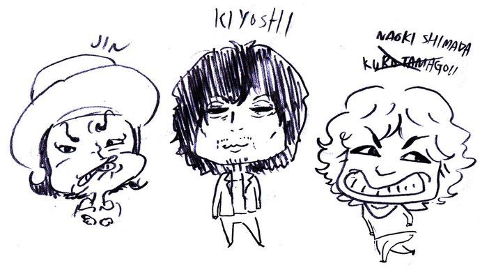 左から Jinさん KIYOSHIさん シマダナオキさん