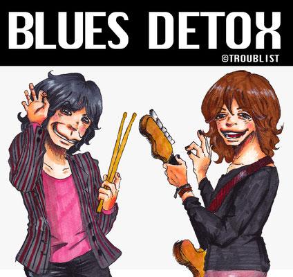BLUES DETOX/オカヒロさんのギターのネックがおかしいのはスルーで!!