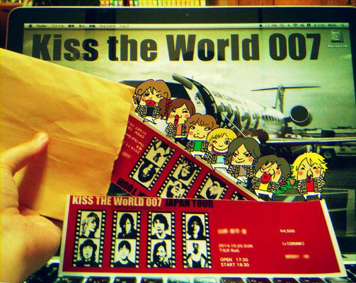 KISS THE WoRLD007/チケットが我が家に到着記念イラスト②