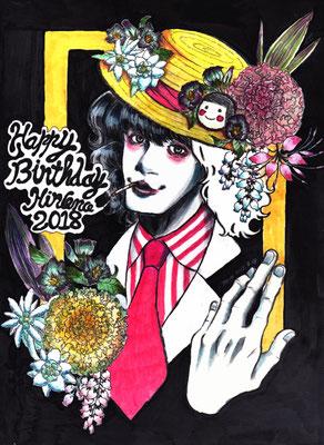 Hironoさんお誕生日おめでとうイラスト2018