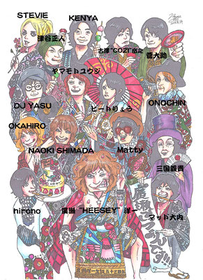 HEESEY/2016.4.17@渋谷ラママ廣瀬ごっつぁんです!!! ~HEESEYS 53rd BIRTHDAY SPECIAL~出演者の方々解説