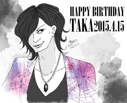 TAKAさんお誕生日おめでとうイラスト
