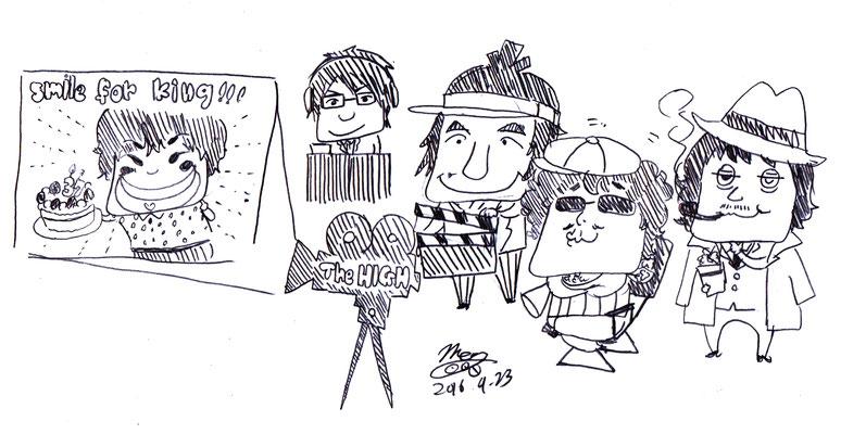 The HIGH/2016.4.22@代々木Zher the ZOO劇場『Do You Love Me』公開記念ラクガキ