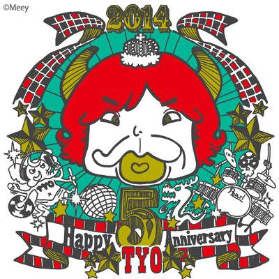 TYO/5周年記念ステッカーイラストMADバージョン