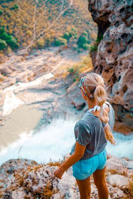 Jebel Sharms Gebirge Oman Wasserfall
