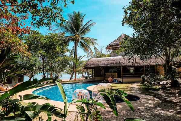 Unterkunft im Norden von Busuanga: Cashew Grove Resort