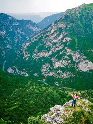Wandern in Montenegro Tara Schlucht