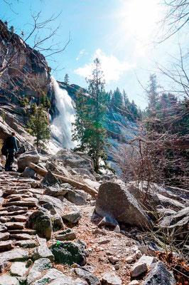 Yosemite Nationalpark Wanderung zu den Nevada Falls