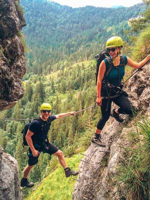 Fotoloch beim Grünstein Klettersteig