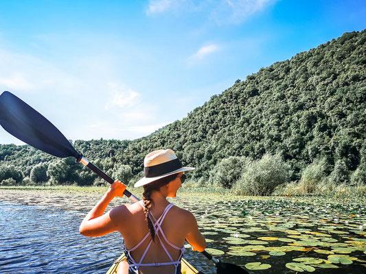 Kayak fahren Skadar Lake Montenegro