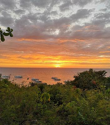 Sonnenuntergang beim Lighthouse auf Malapascua