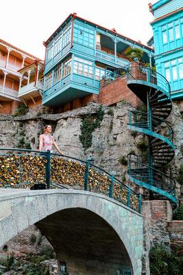 Altstadt Tiflis Sehenswürdigkeiten Schwefelgasse