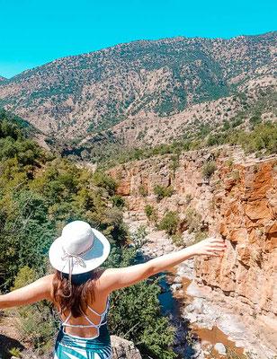 Aussicht auf den kleinen Canyon im Paradise Valley